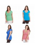 Nikibiki 2 For 1 Plus Sized Cap Sleeve Tops