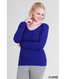 Nikibiki Plus Size Scoop Neck Top
