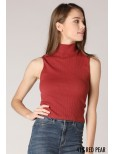 Nikibiki Ribbed Turtleneck Sleeveless Top