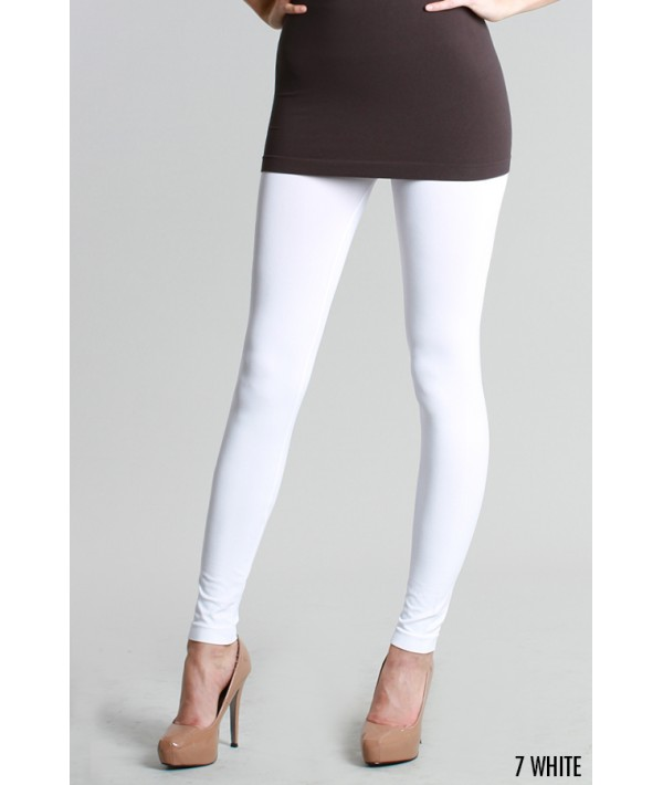 White Ankle Length Leggings
