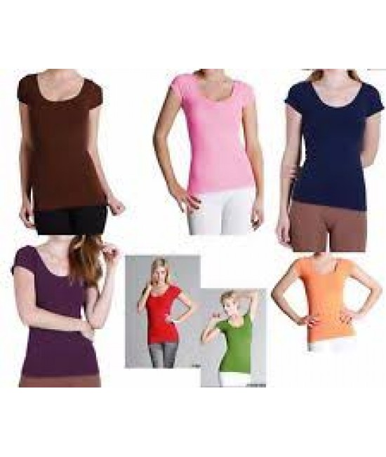 Nikibiki 5 Pack Cap Sleeve Tops