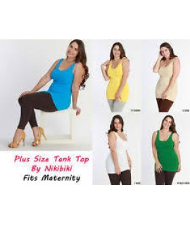 5 Pack Plus Sized Tank Tops