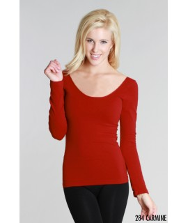 Nikibiki Long Sleeve Scoop Neck