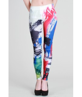 Nikibiki Sublimation Long Leggings Modern Brush