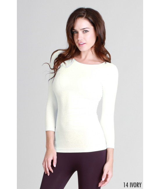 Nikibiki 3/4 Sleeve Crew Neck Top