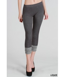 Nikibiki Two Tone Shirring Capri Leggings